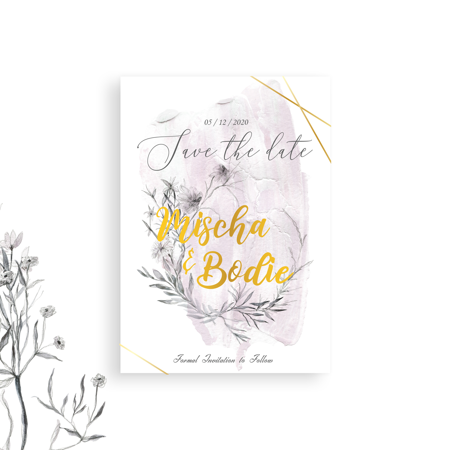 image relating to Printable Save the Date Cards identified as Rustic Floral Help save The Dates Customised Printable Help you save The Dates A6 Rustic Conserve the day playing cards Shabby Stylish Structure Do-it-yourself Wedding day