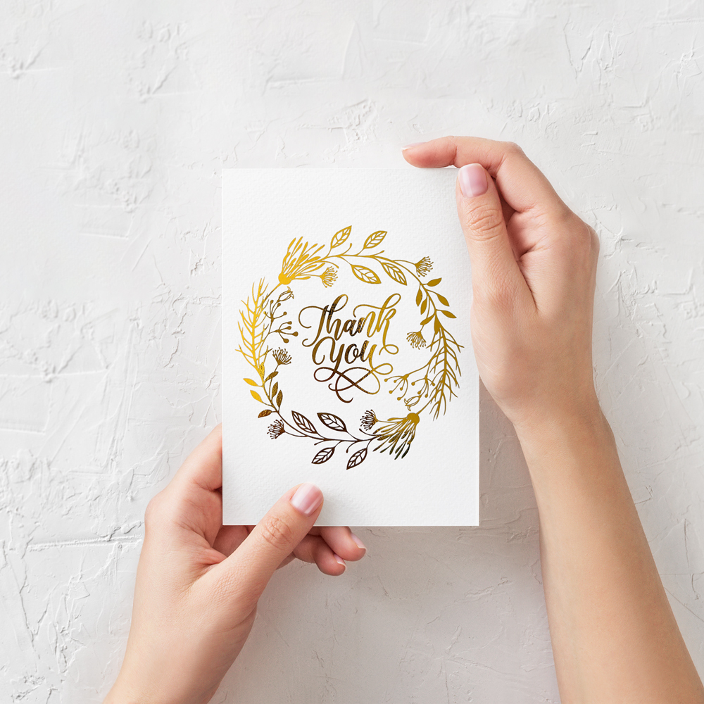Wedding Thank You Thank You For Being A Part Of Our Special Day Real Foil Thank You Card Foiled Card Wedding Card Card Foil Card